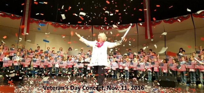 Mrs. Wood leads the Veteran's Day concert