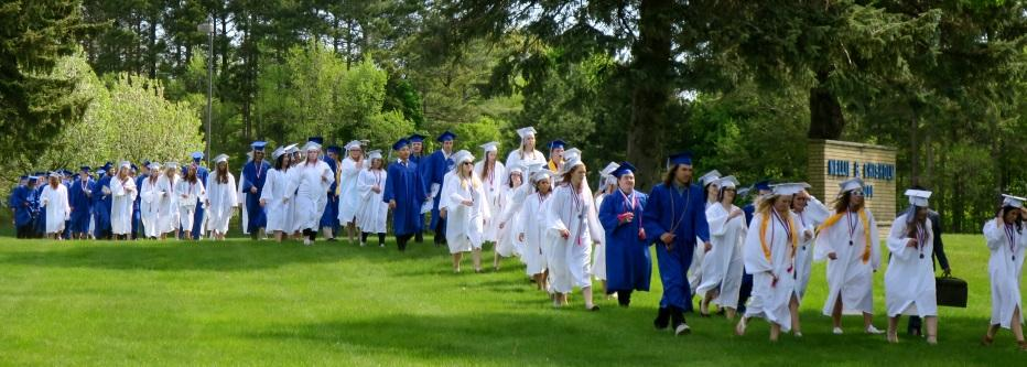 Class of 2017 marching back to MHS