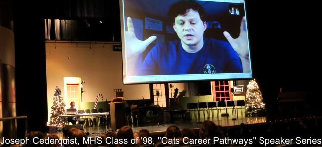 Joseph Cederquist at 'Cat's Career Pathways Speaker Series