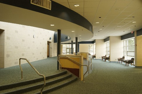 picture of the high school auditorium foyer